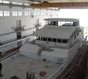 Construction of the first Nordhavn 120 AURORA Superyacht In Progress