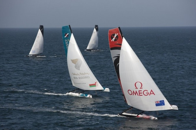 Feet racing, Muscat, Act 1, Extreme Sailing Series 2011