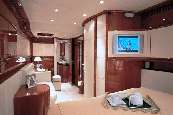 Luxurious interior of the charter yacht Maita'i by Sunreef Yachts