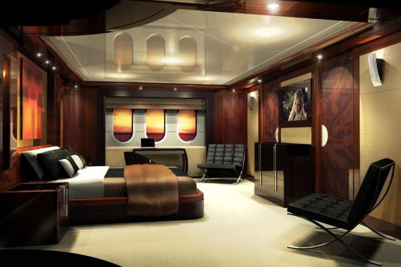 Luxurious interior on board Phantom Superyacht