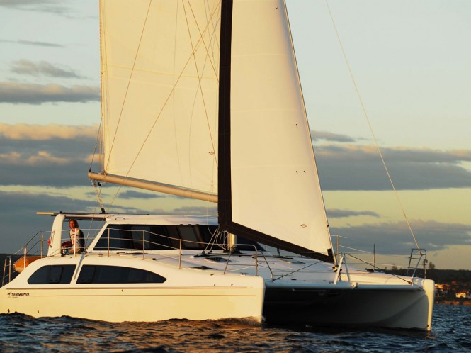 Luxury catamaran yacht Seawind 1160