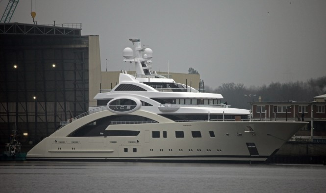 Luxury motor yacht ACE photographed by Carl Groll - Image courtesy of Lurssen Yachts