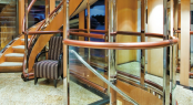 Luxury motor yacht Triumphant Lady - Staircase
