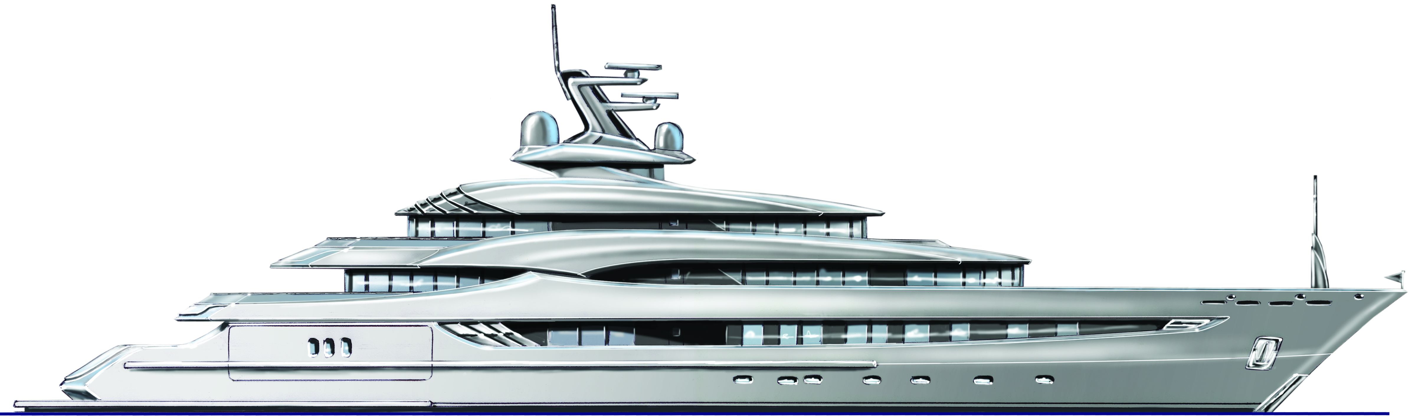 Art Line Yacht Design : More elegant and curvaceous yacht design called she