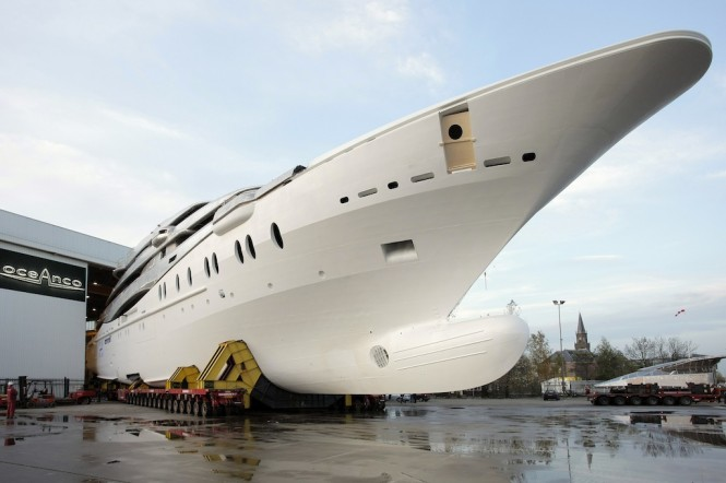 The five-deck luxury yacht Y707 offers 6 stunning cabins to her guests, ...