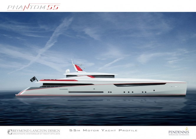 Pendennis mega yacht Phantom 55 by Reymond Langton Design - Profile