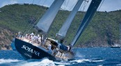 Peter Harrisons 115 super yacht Sojana Christophe Jouany Les Voiles de Saint-Barth