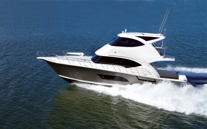 Riviera's newest model the 53 Enclosed Flybridge Yacht dubbed the ...