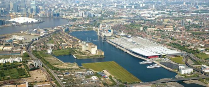 Royal Docks 2012 - Superyacht Berthing in London
