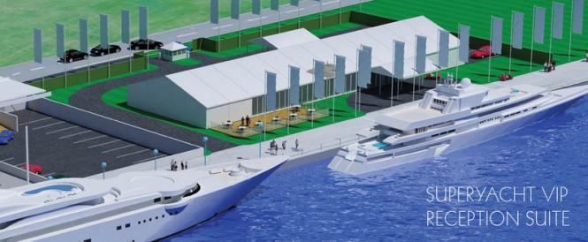 Royal Docks 2012 - Superyacht VIP Reception Suite