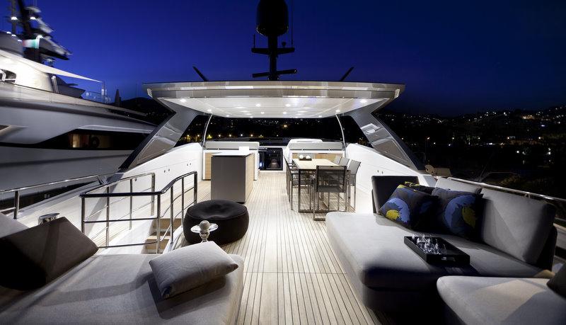 Sanlorenzo SL94 Superyacht Exterior By Night