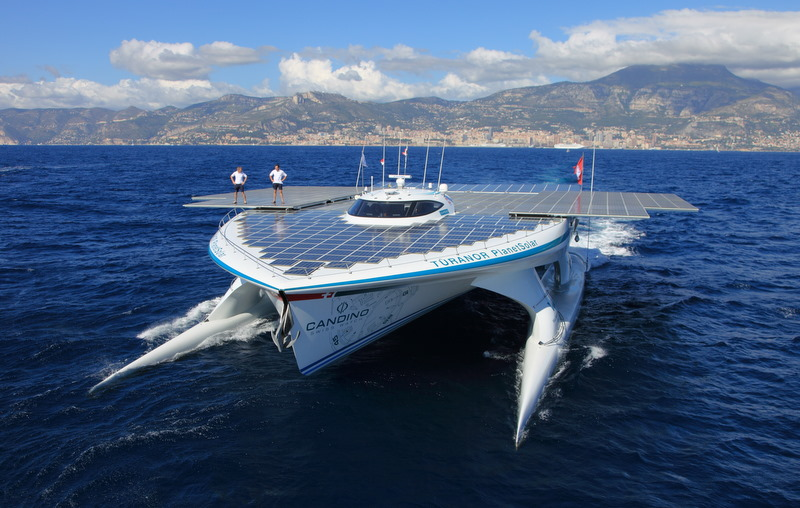 TÛRANOR PLANETSOLAR IS THE FIRST SOLAR BOAT TO PASS ...