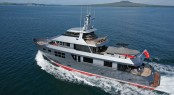 Stylish charter yacht VvS1 now available in the Mediterranean