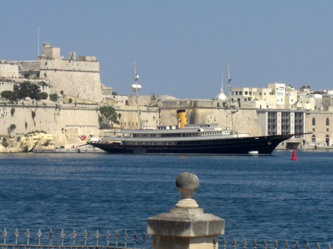 Superyacht NERO - La Valletta/Malta in June 2008  - Photo courtesy of Ferdinand Rogge