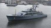 Super yacht Pacific in Harbour of Kiel - Photo courtesy of Ferdinand Rogge