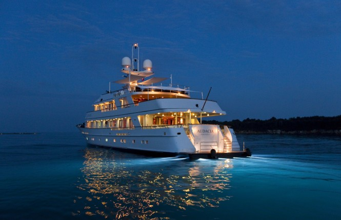 Superyacht Audacia - Photo Marc Paris courtesy of Pendennis Shipyard