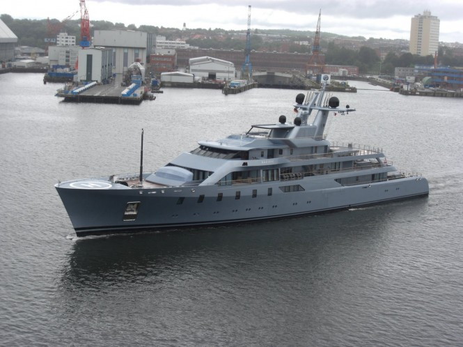 Superyacht Pacific in the Harbour of Kiel in August 2011 - Photo courtesy of Ferdinand Rogge