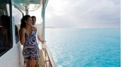Taking in the beautiful turquoise waters of Tahiti on board charter yacht MISS KULANI - Photo by Tim McKenna Photography©