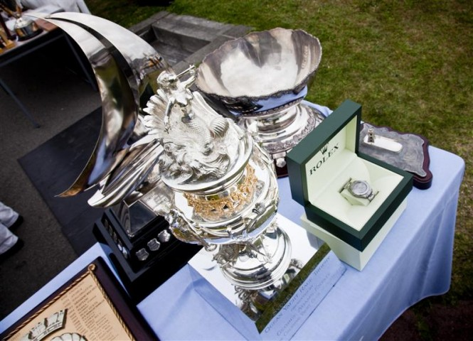 Tattersalls Cup and Yacht-Master timepiece for Overall Handicap winner and Line Honours winner Photo: ROLEX/D. Forster