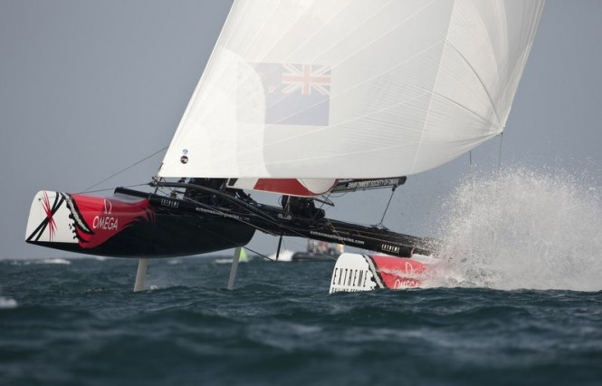 Team New Zealand racing in Muscat, Oman 2011