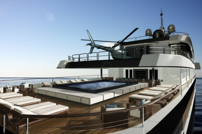 The 75m Motor Yacht NPe75 designed by Gian Paolo Nari