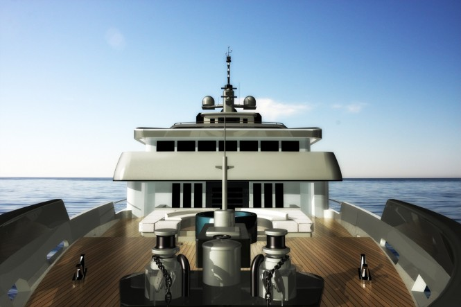 The 75m Motor Yacht NPe75 designed by Gian Paolo Nari - Bow
