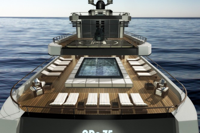 The 75m Motor Yacht NPe75 designed by Gian Paolo Nari - Large Swimming pool