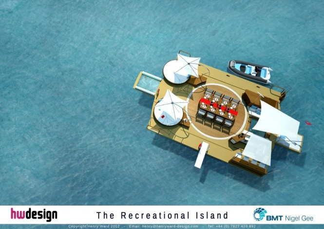 The Recreational Island - Aerial Render
