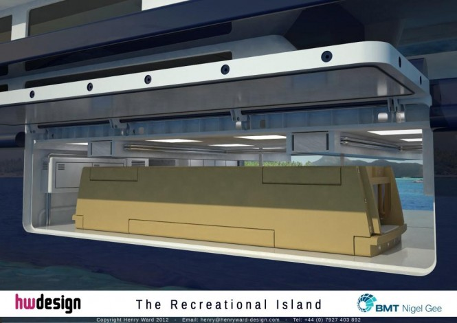 The Recreational Island - Garage Render