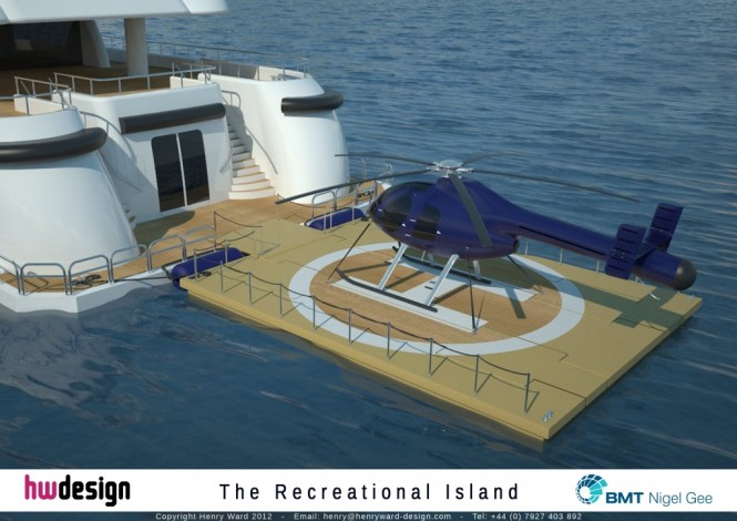 The Recreational Island - Helipad Render