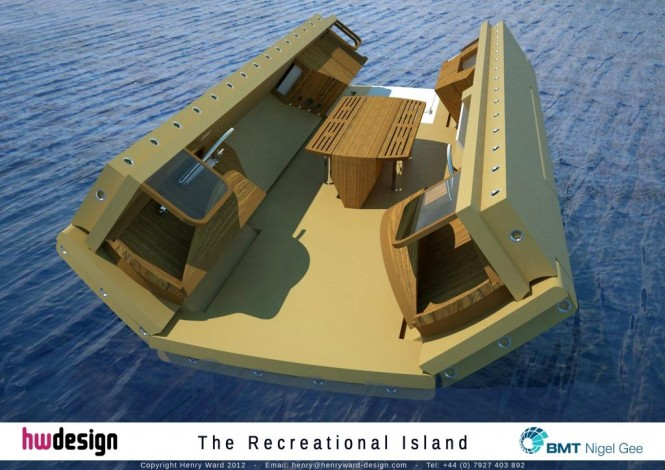 The Recreational Island - Unfolding Render