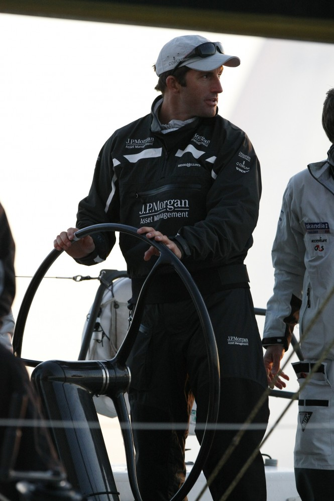 The triple Olympic Gold medallist Ben Ainslie