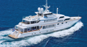 Triumphant Lady Superyacht in her splendor