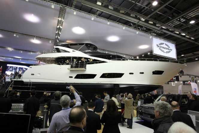The Sunseeker world launch of the 28 Metre motor yacht received a fantastic ...