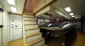 Yacht tender garage on Navetta 43 motor yacht Lady Trudy