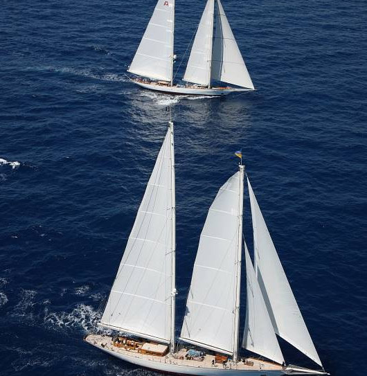 2012 RORC Caribbean 600 Day 4 - an epic battle between 180´ sailing yacht Adela and 154´ Windrose of Amsterdam