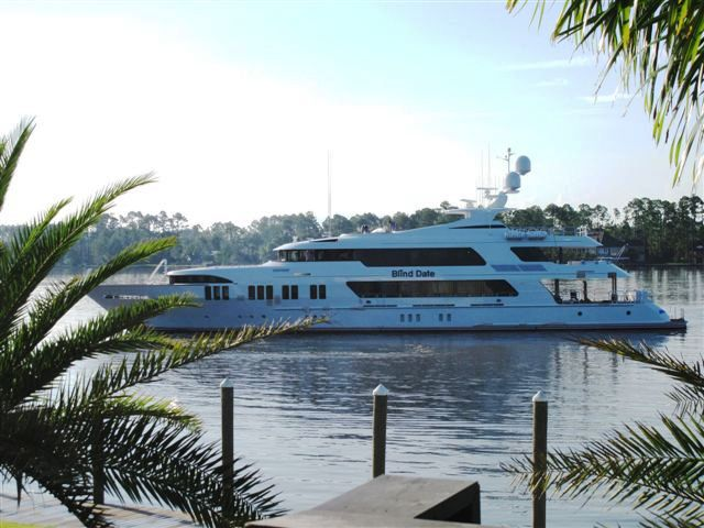 The semi- displacement motor yacht BLIND DATE was launched in 2009 by the ...