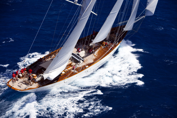 55m sailing yacht Adela-The largest yacht attending the 2010 Pendennis Cup