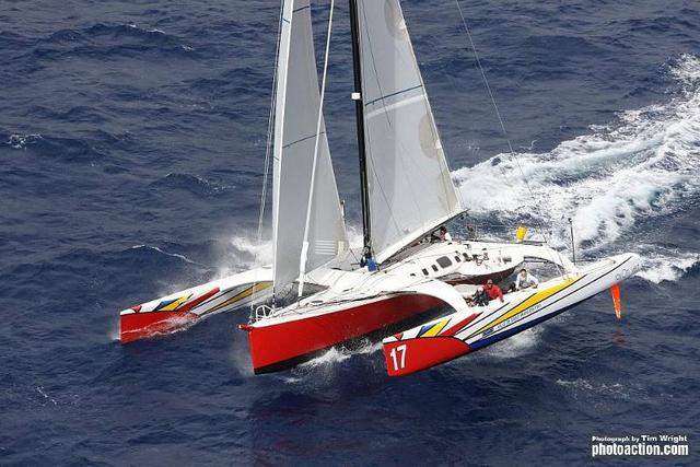 63ft trimaran Paradox Credit RORC Caribbean 600 - Credit Tim Wright photoaction