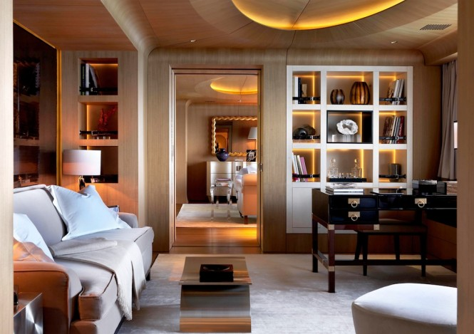 70m NUMPTIA superyacht - Owner's Suite - Interior by Salvagni Architetti