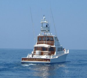 Motor Yacht Golden Osprey winner of the Bradford Marine 'Free Bottom Paint Job' contest