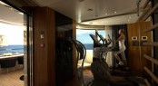 Active relaxation in the fully equipped Technogym aboard Quinta Essentia