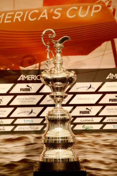 America´s Cup Trophy Photo by Ch. Launay