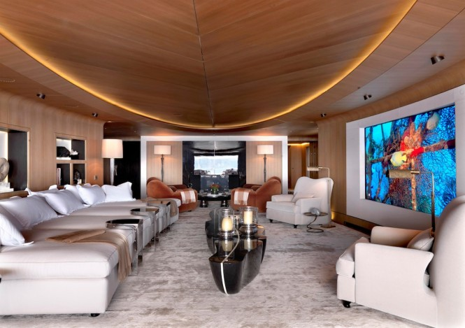 Beautiful interior of the 70 luxury yacht Numptia by Salvagni Architetti