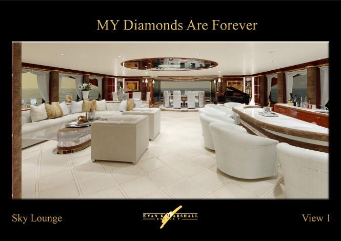 Benetti 61m luxury yacht Diamonds Are Forever Sky Lounge