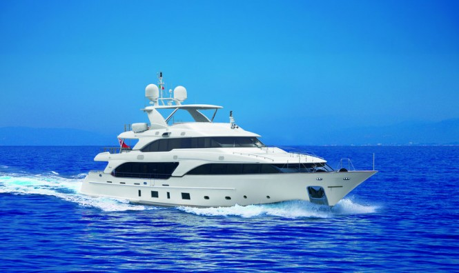 Benetti Classic 121 motor yacht Domani. The luxury yacht Domani is the third ...
