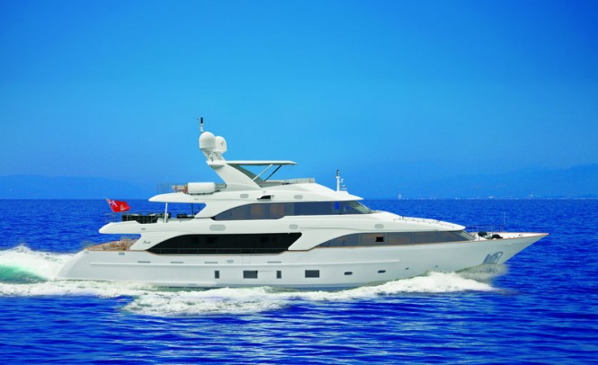 Benetti also announced the start of construction on a new 90 metre steel and ...