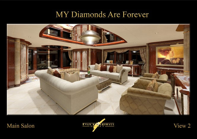 Benetti megayacht Diamonds Are Forever Main salon