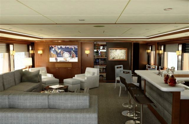 Blind Date charter yacht - Skylounge