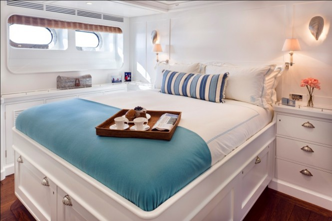 Cabin on the Pendennis sailing yacht Christopher - Credit Cory Silken